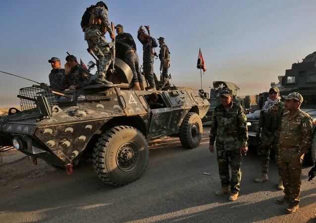 Forces armées irakiennes. Image d'archives