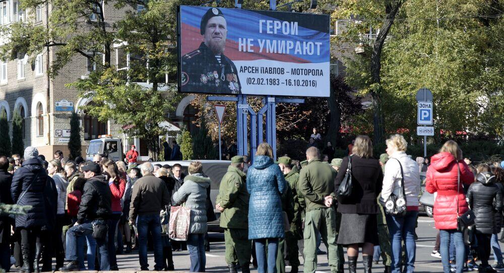 Donbass: 50 000 personnes disent adieu à Motorola, le chef des insurgés