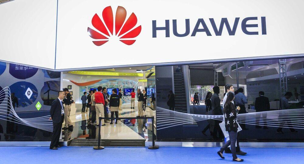 Le stand de Huawei au Salon PT/EXPO China 2014