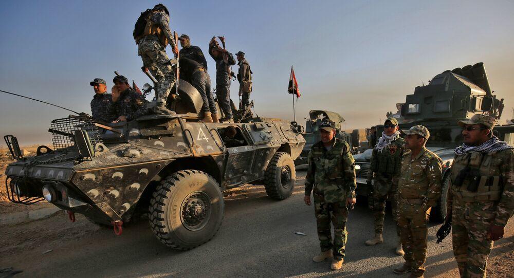 Les forces irakiennes à Mossoul