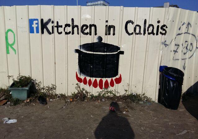 Le camp de réfugiés à Calais