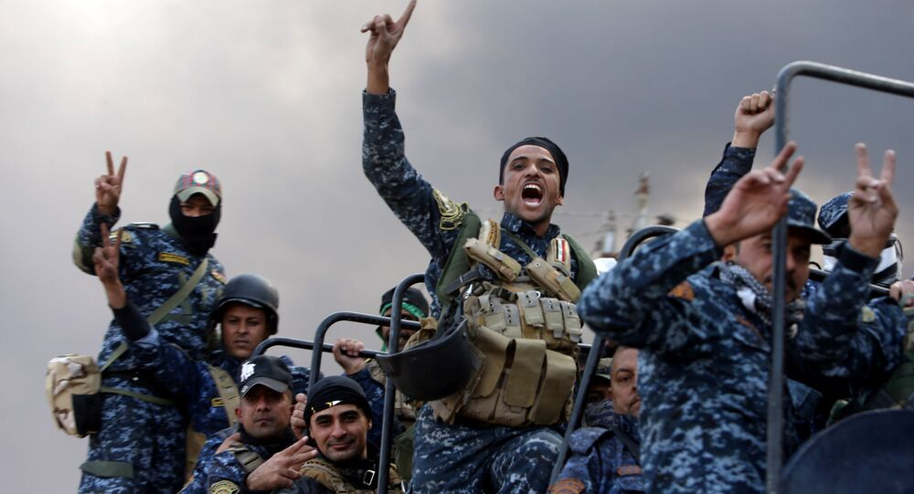 Des militaires irakiens participant à la libération de Mossoul