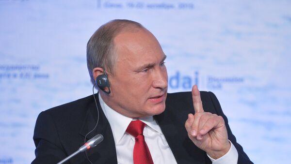 Vladimir Poutine lors d'une réunion du club Valdaï - Sputnik France