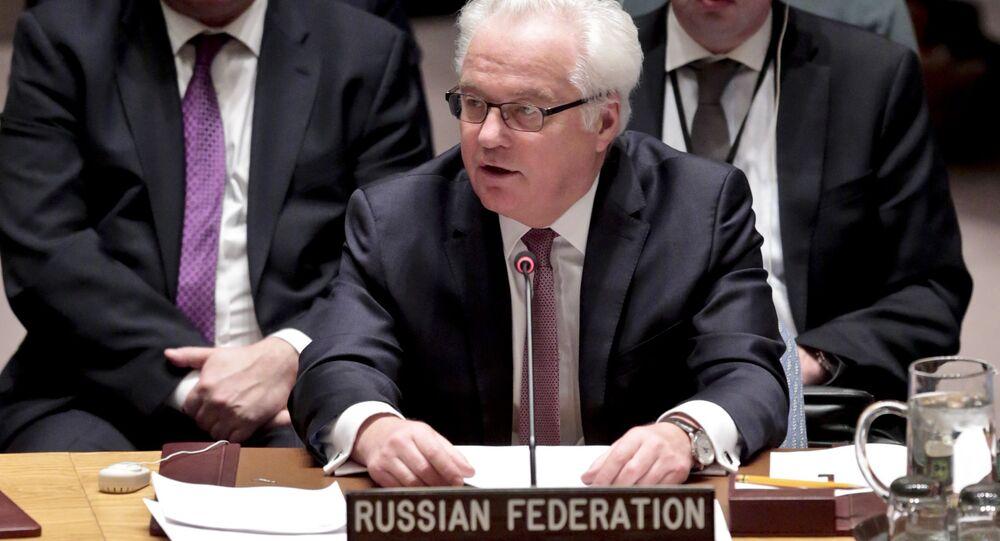 Vitali Tchourkine, ambassadeur permanent  de Russie auprès de l'Onu. Archive photo