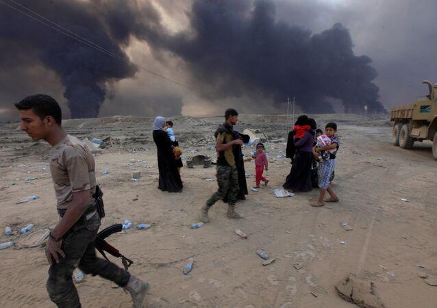 Les batailles à Mossoul