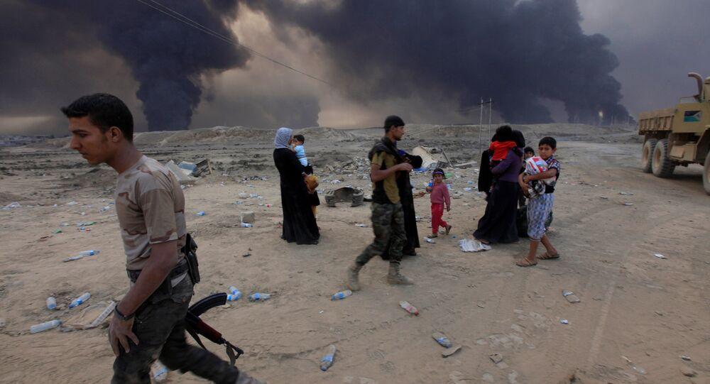 Situation près de la ville irakienne de Mossoul