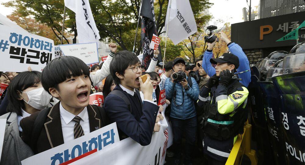 Protestations en Corée du Sud