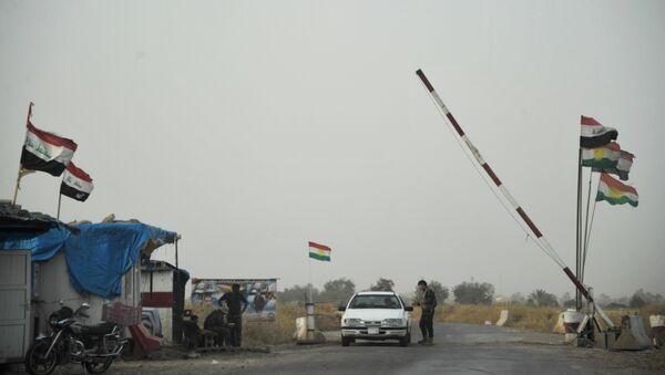 Un poste de contrôle des Forces armées du Kurdistan irakien - Sputnik France