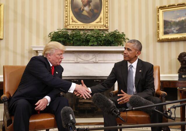 Rencontre Trump-Obama à la Maison blanche