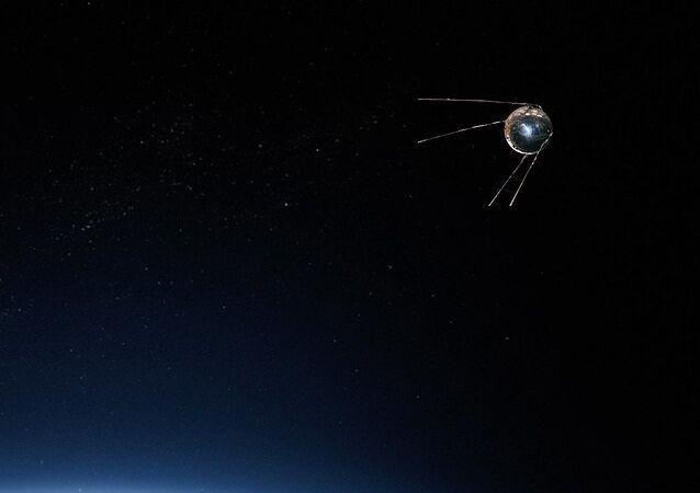 Un satellite artificiel. Image d'illustration