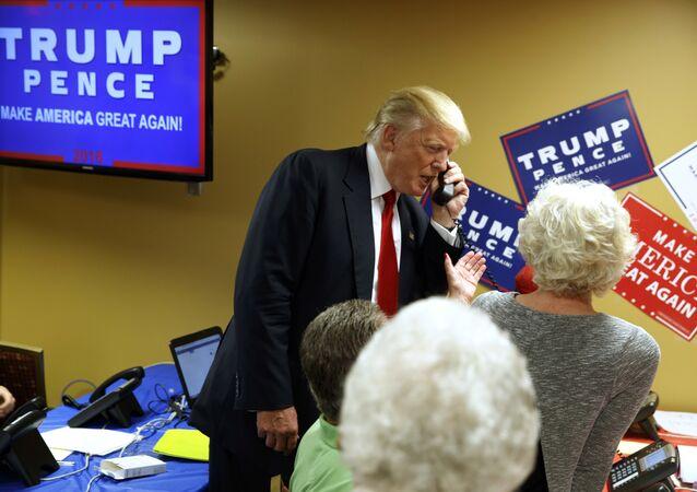 Donald Trump lors de la course présidentielle
