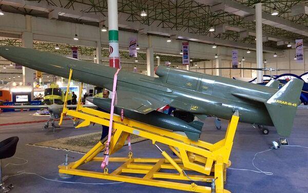 Le drone de combat iranien Karar 45-3, capable d'attaquer les unités isolées des troupes terrestres, les ponts et d'autres sites situés à proximité des forces ennemies - Sputnik France