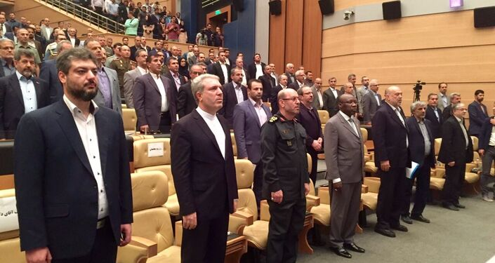 La cérémonie d'inauguration du salon Iran Air Show organisé par Kish Trade Promotion Center avec le concours de l'administration de la zone économique spéciale de Kish et l'autorité iranienne de l'Aviation civile (CAO-IRI).