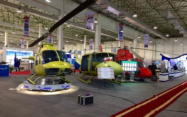 Le stand du groupe Iran Helicopter Support and Renewal Company (IHSRC) au salon Iran Air Show 2016 - Sputnik France