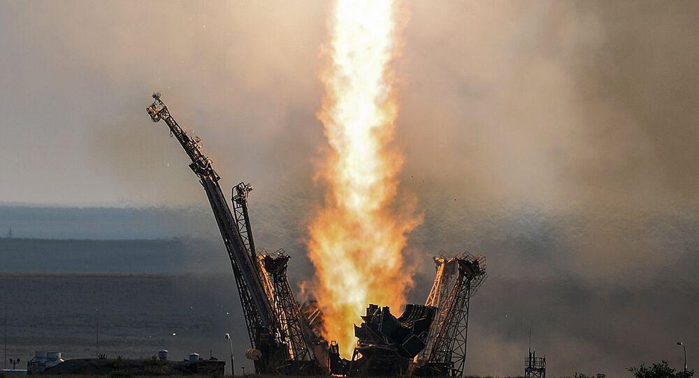 Décollage d'un lanceur Soyouz-FG depuis le cosmodrome de Baïkonour (archives)
