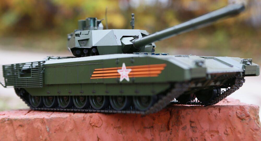 Modèle d'un char russe Armata