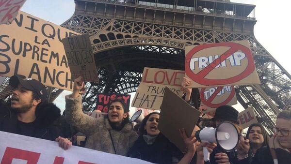 Manifestation anti-Trump à Paris - Sputnik France