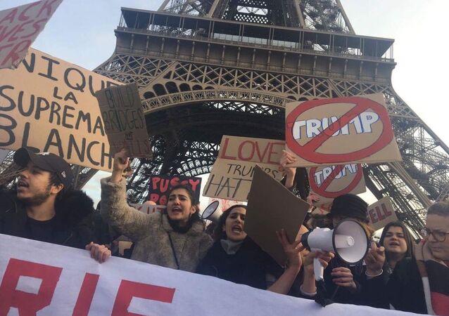 Manifestation anti-Trump à Paris