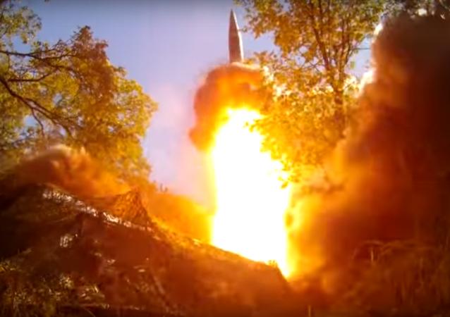Tir d'un missile russe