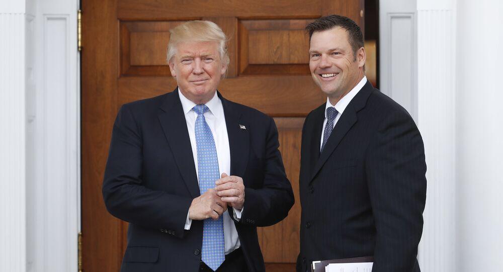 Donald Trump et Kris Kobach