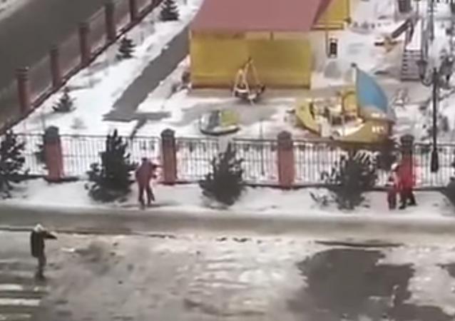 Un ouragan à Stavropol
