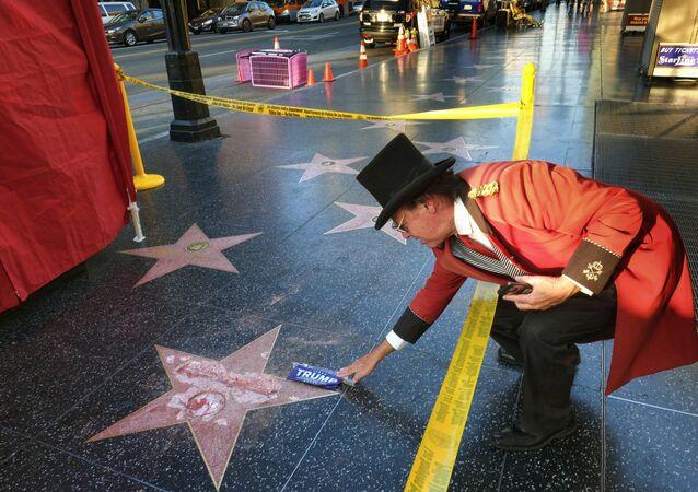 Étoile de Trump vandalisée