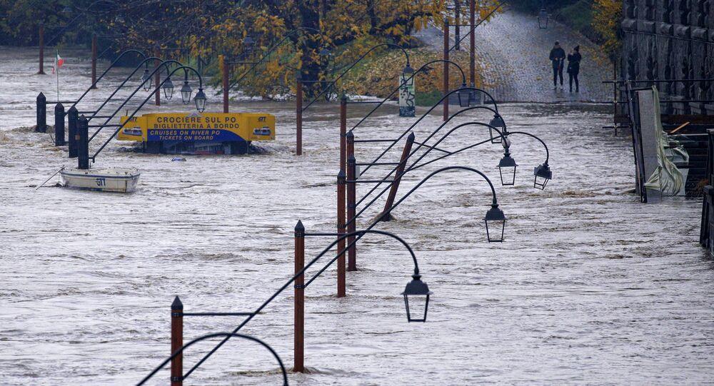Le nord-ouest de l'Italie sous les eaux