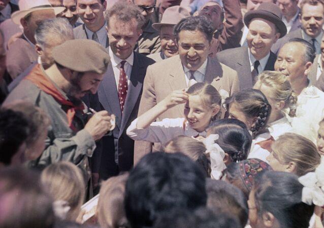 Fidel Castro en Ouzbékistan.