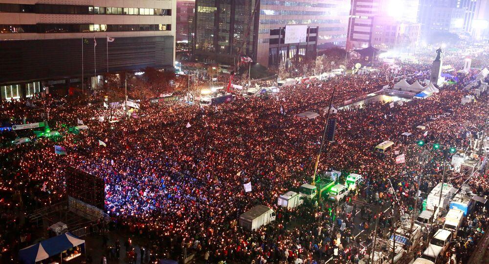 Manifestation record pour la démission de la présidente coréenne