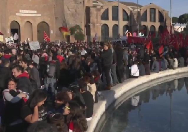 Des manifestations à Rome contre la réforme constitutionnelle