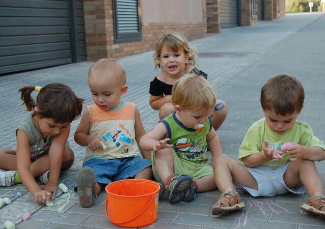 Des enfants espagnoles