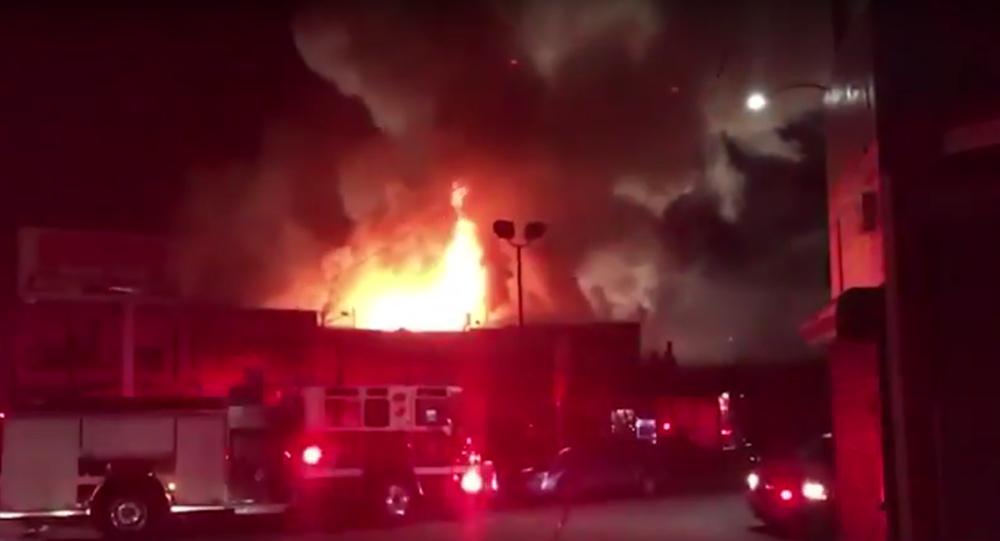 Incendie à Oakland