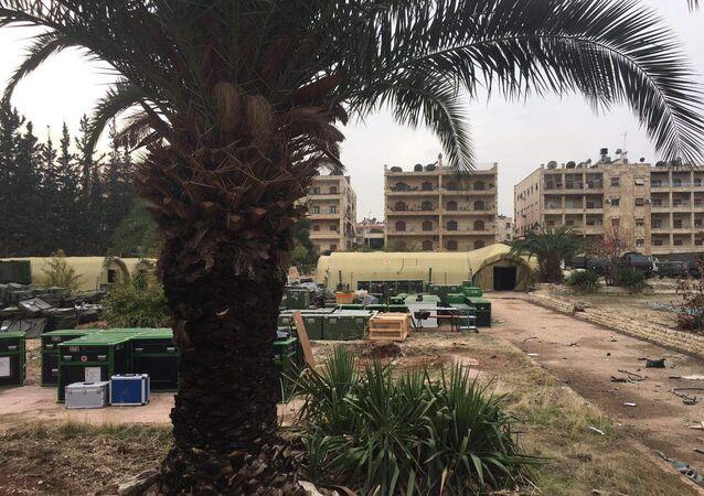 L'hôpital mobile russe à Alep