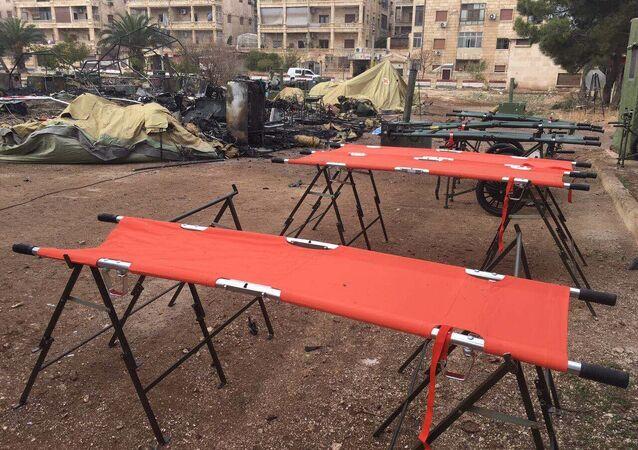 Hôpital mobile russe bombardé par l'opposition syrienne à Alep