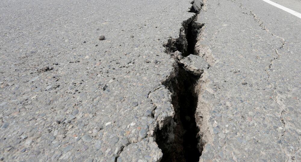Un puissant séisme des dégâts en Indonésie. Archive