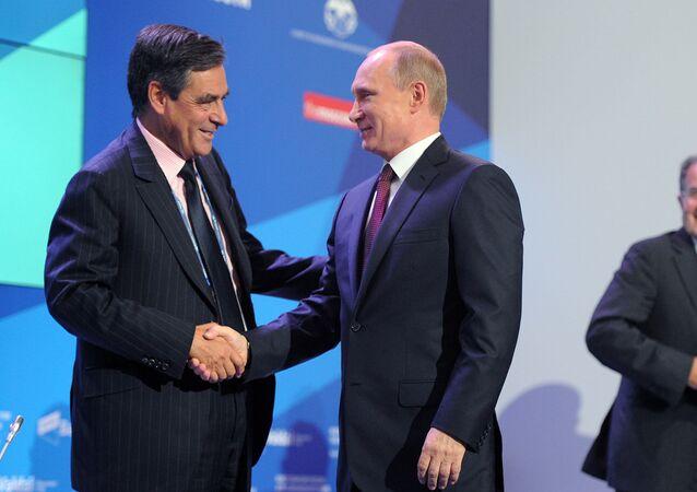 Vladimir Poutine et François Fillon. Archive photo