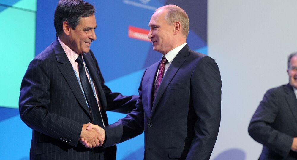 Vladimir Poutine et François Fillon