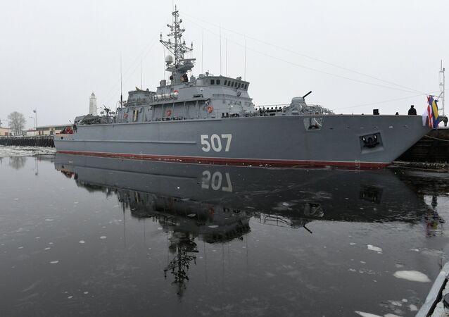 Vaisseau amiral de lutte antimine de nouvelle génération nommé Alexandre Oboukhov