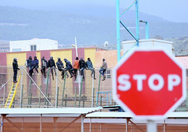 La frontière à Melilla
