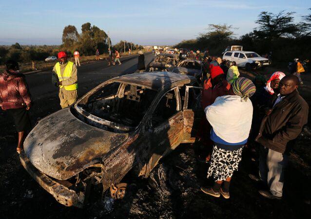 l'explosion d'un camion-citerne au Kenya