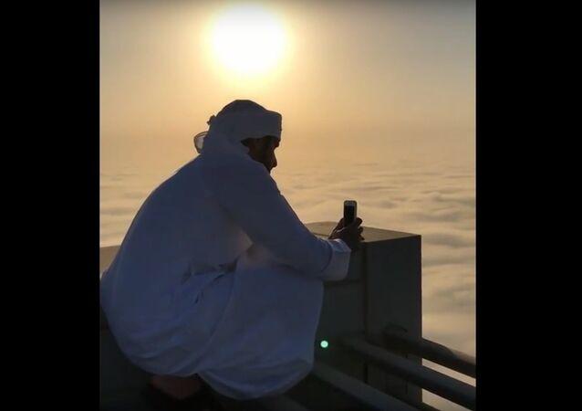 La vue depuis le toit du plus haut bâtiment du monde éblouit les internautes