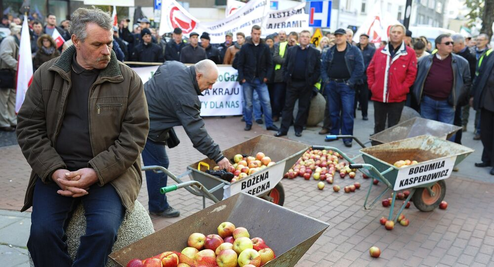 Polish farmers and horticulturists protest in Warsaw