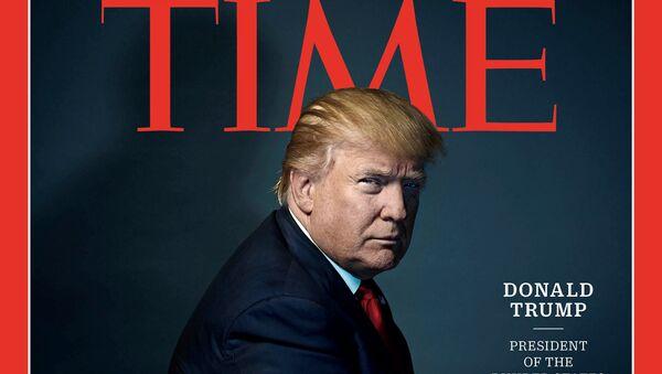 Donald Trump sur la couverture de Time magazine - Sputnik France