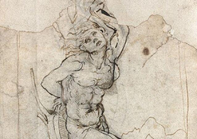 le martyre de Saint Sébastien de Leonard de Vinci