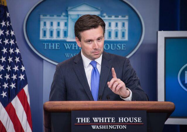 Le porte-parole de l'administration US Josh Earnest. Archive photo