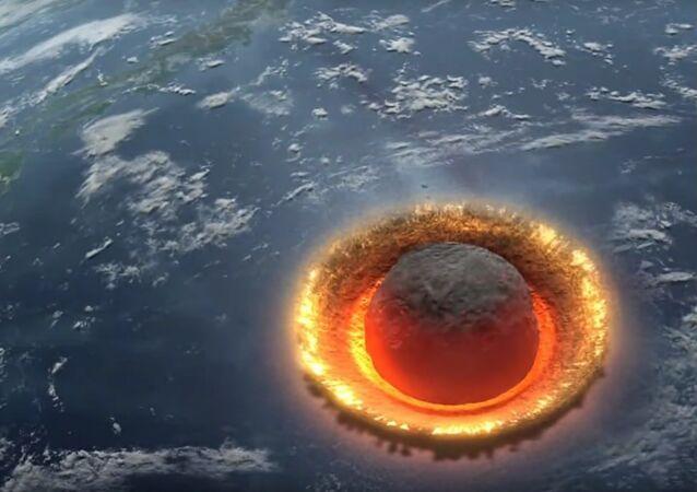 Que se passerait-il si un immense astéroïde tombait dans l'océan?
