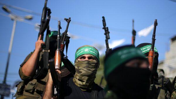 Des militants du mouvement Hamas - Sputnik France