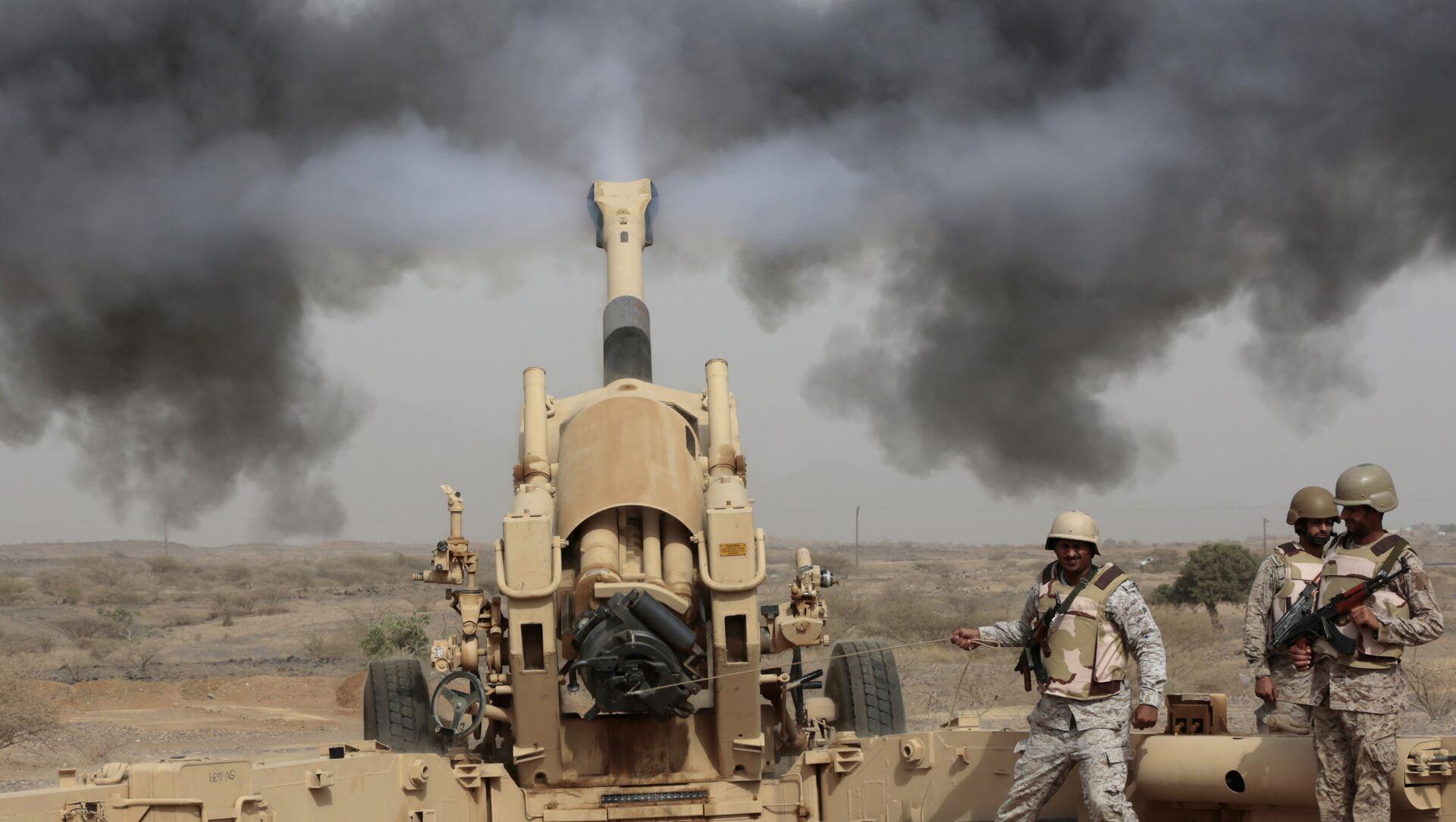L'artillerie saoudienne participe à l'opération militaire au Yémen - Sputnik France, 1920, 19.03.2021