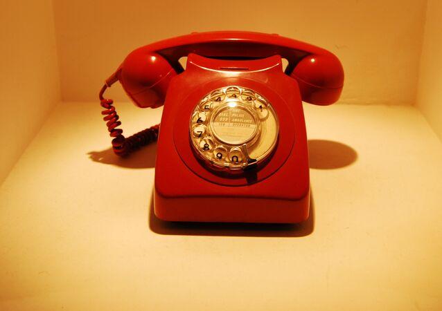 Téléphone rouge, image d'illustration