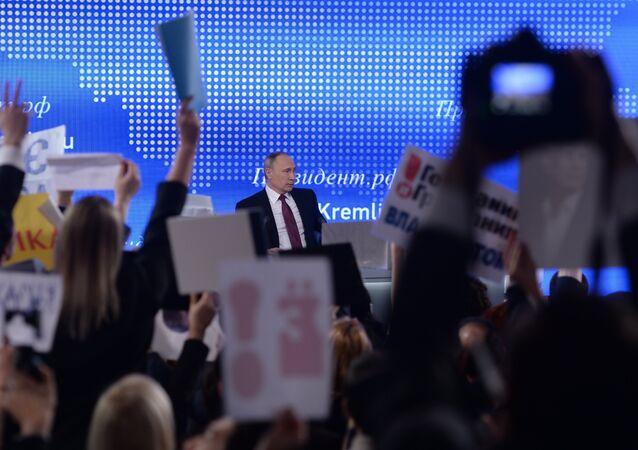 Grande conférence de presse de Vladimir Poutine